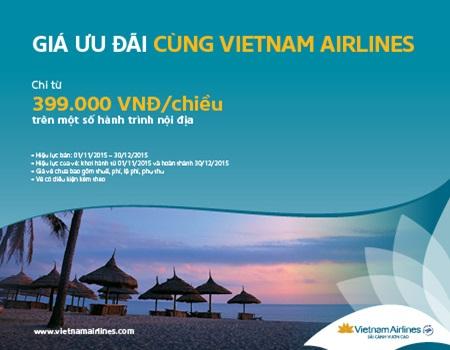 Mua vé máy bay Vietnam Airlines tại Vinajet