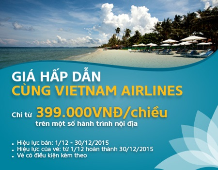 Mua vé Vietnam Airlines giá rẻ