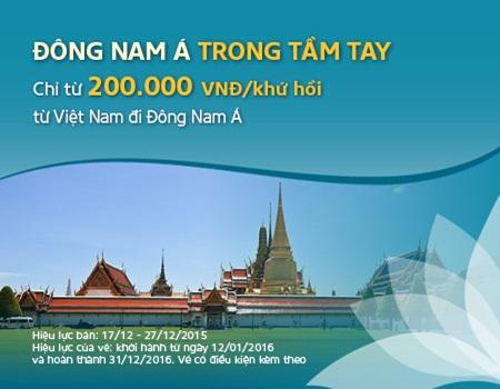 Du lịch Đông Nam Á chỉ từ 200.000 đồng, chưa bao giờ dễ đến thế!