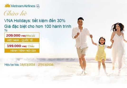 Du lịch hè tiết kiệm cùng vé rẻ Vietnam Airlines