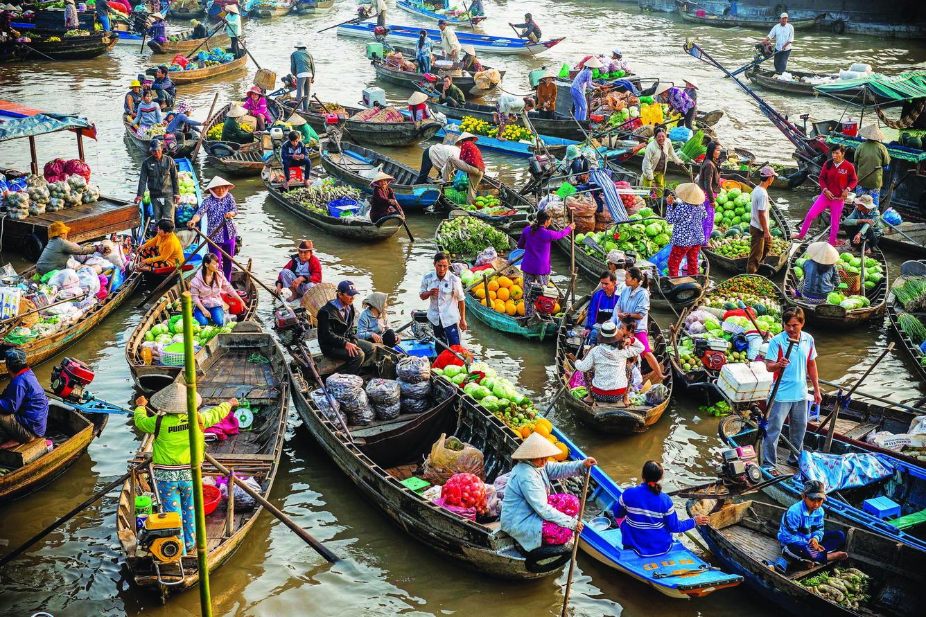 Vé máy bay Vietnam Airlines - Chợ nổi Cái Răng