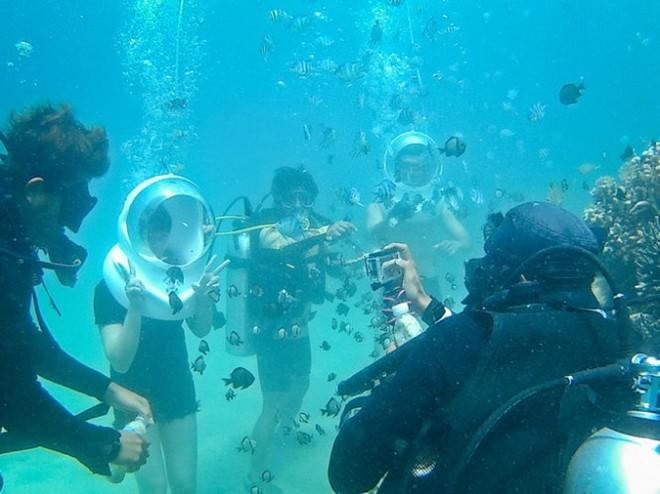 Vé máy bay Vietnam Airlines - Đi bộ dưới biển Nha Trang