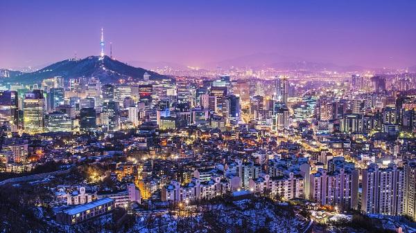 Vé máy bay Vietnam Airlines - Cảnh đẹp buổi tối tại Seoul
