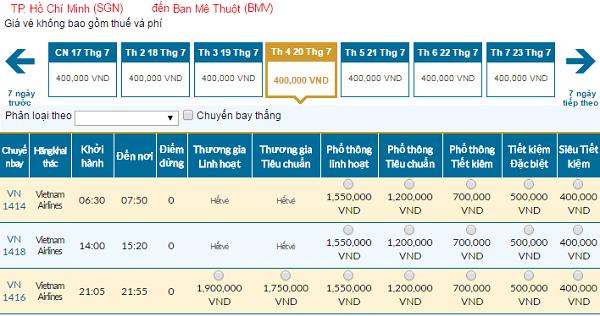 Bản tin Vietnam Airlines: Vé rẻ đi Buôn Ma Thuột mới nhất