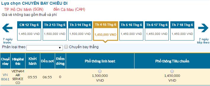 Đặt vé Vietnam Airlines đi Cà Mau rẻ nhất ở đâu?