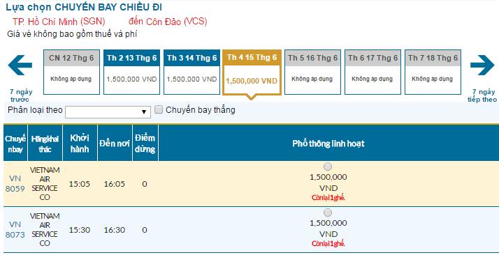 Đặt vé Vietnam Airlines đi Côn Đảo rẻ nhất ở đâu?