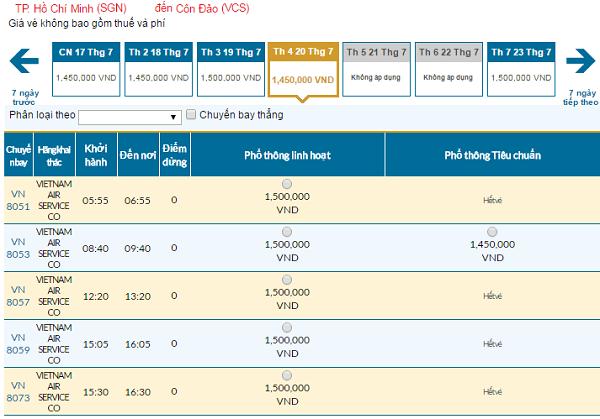 Bản tin Vietnam Airlines: Vé rẻ đi Côn Đảo mới nhất