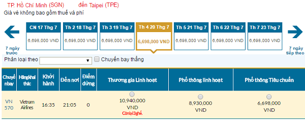 Bản tin Vietnam Airlines: Vé rẻ đi Đài Bắc mới nhất