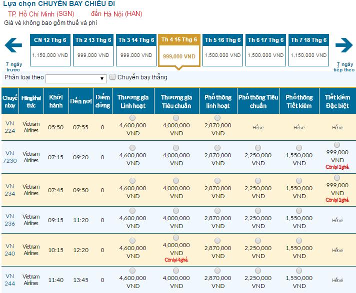 Đặt vé Vietnam Airlines đi Hà Nội rẻ nhất ở đâu?