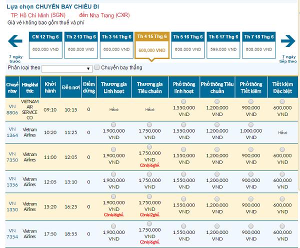Đặt vé Vietnam Airlines đi Nha Trang giá rẻ ở đâu?