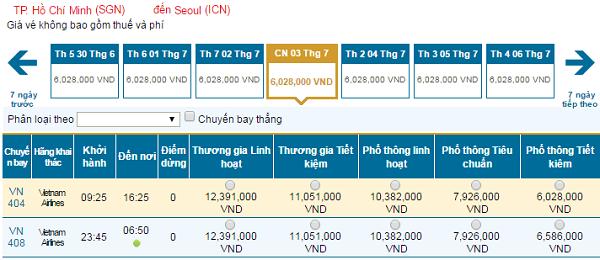 Cập nhật vé rẻ đi Seoul tháng 7/2016