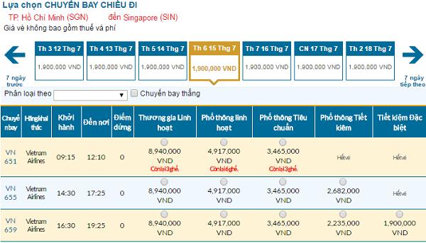 Bảng giá vé máy bay đi Singapore cập nhật tháng 07