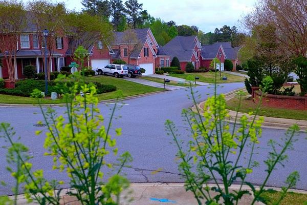 Khung cảnh ngoại ô Atlanta