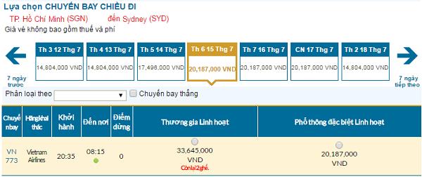Bảng giá vé máy bay đi Sydney cập nhật tháng 07
