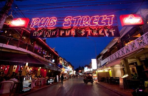 Phố Tây Pub Street ( Siem Reap, Campuchia)
