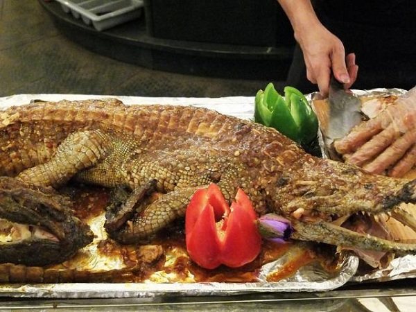 cá sấu Úc nướng