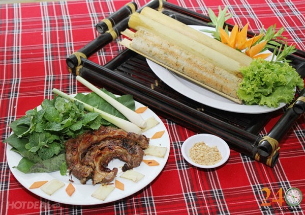 Vé máy bay đi pleiku - Thưởng thức cơm lam thịt nướng