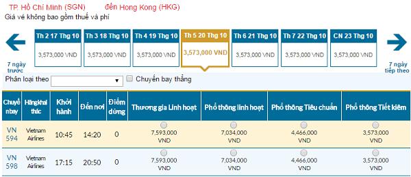 Giá vé máy bay đi Macau hãng Vietnam Airlines mới nhất