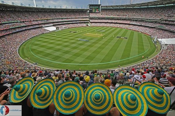 Chơi cricket tại sân vận động Melbourne