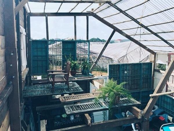 Vé máy bay đi Đà Lạt - Sự kết hợp độc đáo giữa những đồ tái chế bằng gỗ và tre