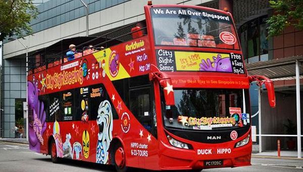 Xe buýt 2 tầng mui trần du lịch Đà Nẵng