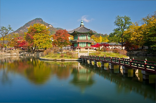 Vé máy bay đi Hàn Quốc - Cung điện Gyeongbokgung