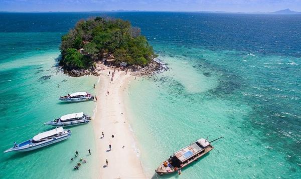"""Vé máy bay đi Thái Lan - Lạ """"đi bộ trên biển"""" ở Krabi"""