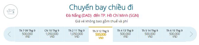 Mua vé máy bay Đà Nẵng - TP.HCM