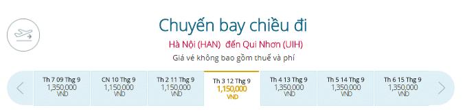 Vé máy bay Vietnam Airlines Hà Nội - Quy Nhơn