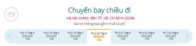 Vé máy bay từ Hà Nội đi TP.HCM