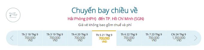 vé Vietnam Air đi Hải Phòng