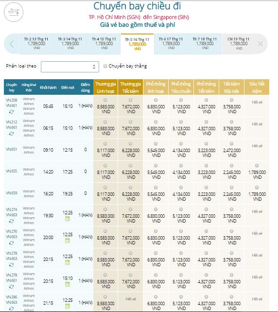 Đặt Mua Vé Máy Bay Đi Singapore Giá Rẻ – VIETNAM AIRLINES