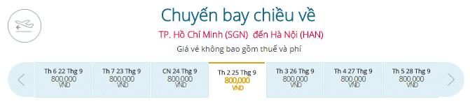 Mua vé máy từ Tp.HCM đi Hà Nội
