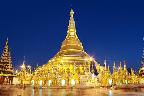 Vé máy bay đi Myanmar - Đặc trưng của Myanmar chùa Shwedagon