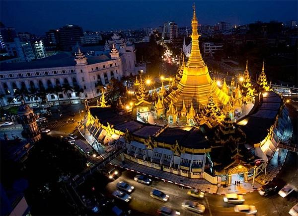 Vé máy bay đi Myanmar - Khám phá chùa Sule lịch sử trường tồn ở Yangon