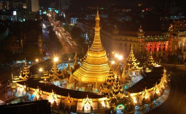 Vé máy bay đi Myanmar - Vẻ đẹp lịch sử Chùa Sule Yangon