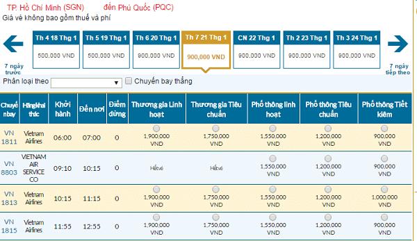 Vé máy bay đi Phú Quốc Tết 2017 giá rẻ