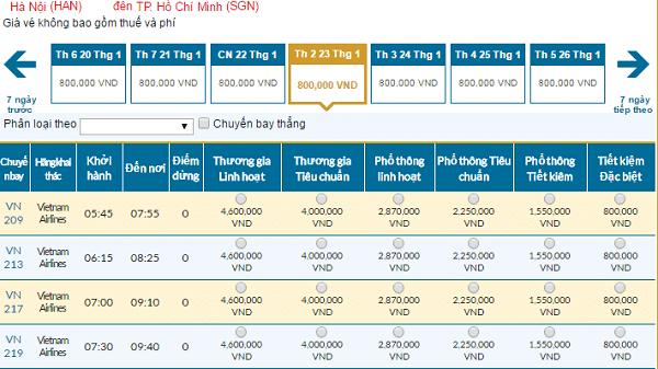 Vé máy bay đi TP Hồ Chí Minh Tết 2017 giá rẻ