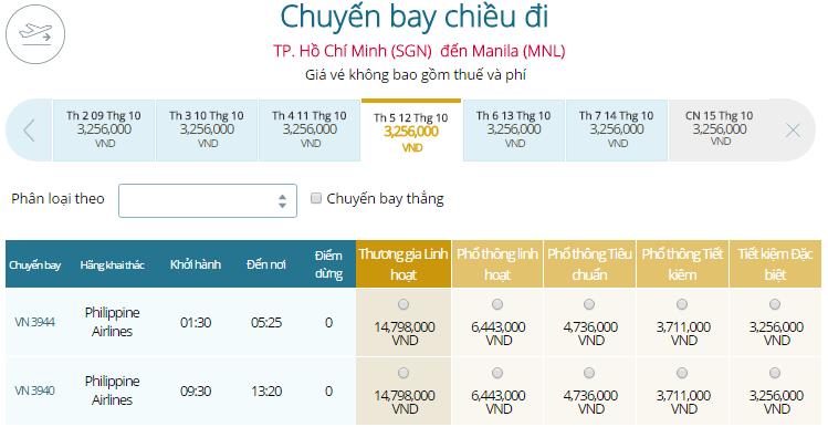Đặt Mua Vé Máy Bay Đi Philippines Giá Rẻ VIETNAM AIRLINES