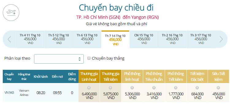 Đặt Mua Vé Máy Bay Đi Myanmar Giá Rẻ VIETNAM AIRLINES