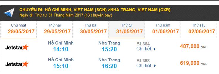 Vé máy bay Jetstar giá rẻ đi Nha Trang