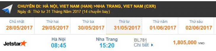 Vé máy bay đi Nha Trang - Jetstar