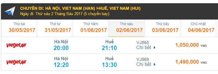 Vé máy bay VietJet Air đi Huế