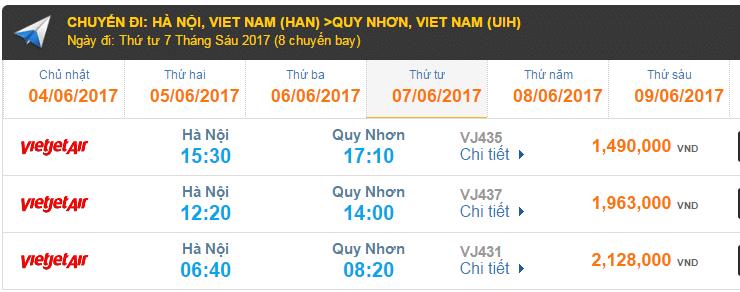 Vé máy bay VietJet Air giá rẻ đi Quy Nhơn