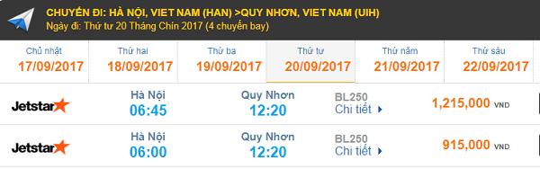 Vé máy bay Jetstar Pacific Hà Nội - Quy Nhơn