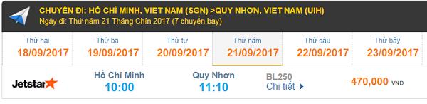 Vé máy bay Jetstar Pacific Sài Gòn - Quy Nhơn