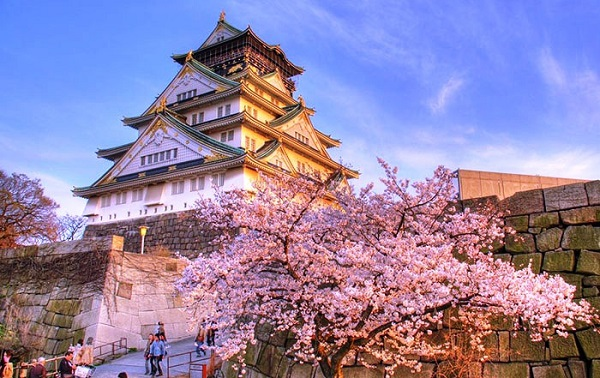 Đặt vé máy bay đi Nhật Bản khám phá lâu đài Osaka