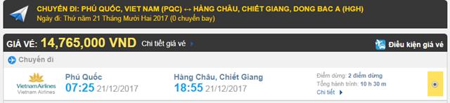 Giá vé máy bay từ Phú Quốc đi Hàng Châu