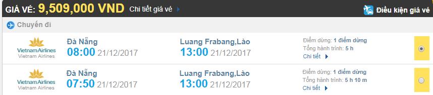 Giá vé máy bay từ Đà Nẵng đi Luang Prabang, Vietnam Airlines