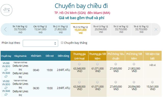 Giá vé máy bay từ TPHCM đi Miami